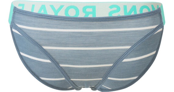 Mons Royale W's Saskia Bikini Brief BT Lead Stripe